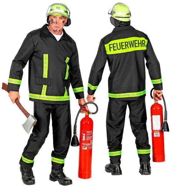 Adults Mens Firefighter Jobs Work Forces Fancy Dress Costume